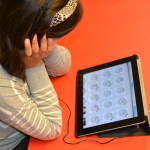Students using Bitsboard in grade 1